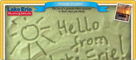 Message On Sand ecard